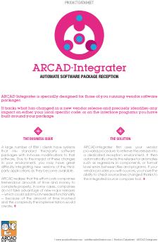 ARCAD Integrater Datasheet
