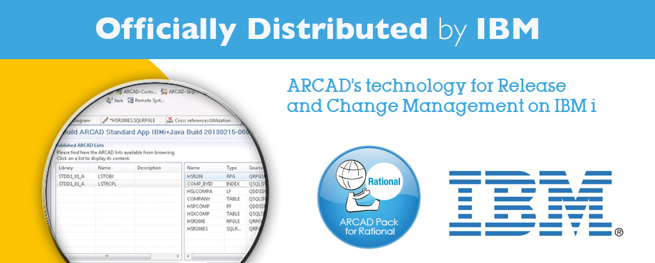 ARCAD's technology for Release and Change Management on IBM i