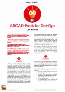 Arcad Pack for DevOps Jira Interface Datasheet