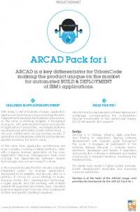 ARCAD Pack for i Datasheet