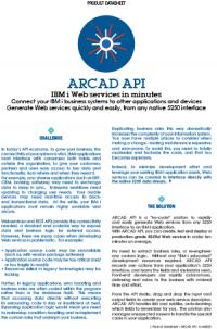 ARCAD API Datasheet