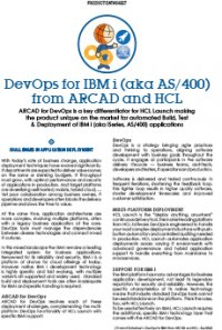 DevOps for IBM i - ARCAD and HCL
