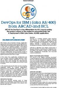 DevOps for IBM i - ARCAD and HCL