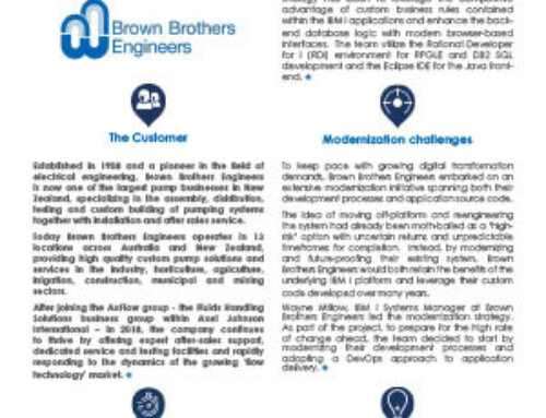 Brown Brothers engineers secure the modernization of their IBM i applications using ARCAD Transformer and ARCAD for DevOps
